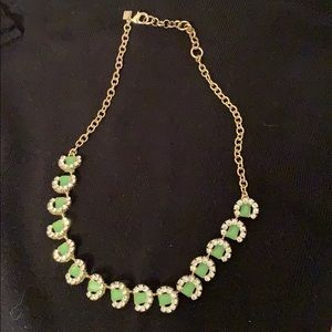 Banana Republic light green, crystal necklace
